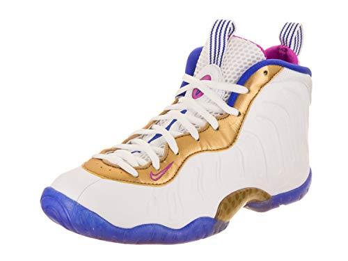 Nike Kids Little Posite One (GS) White/Fuchsia Blast Racer Blue Basketball Shoe 5.5 Kids US