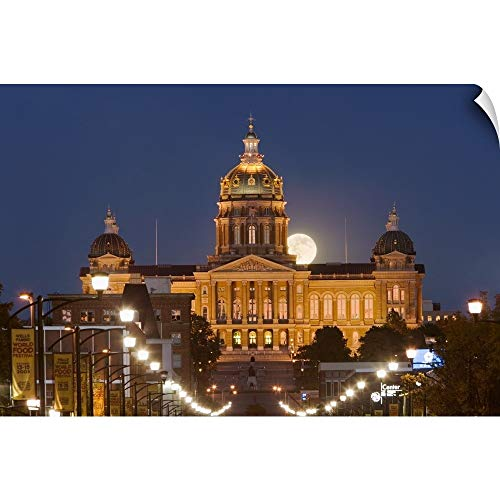 Iowa State Capitol Building - CANVAS ON DEMAND Wall Peel Wall Art Print Entitled Facade of a Government Building, Iowa State Capitol, Des Moines, Iowa 18