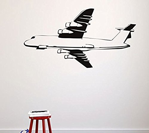 20 x 30 Black Design with Vinyl RAD 524 3 Flying Airplane Silhouette Vinyl Wall Decal