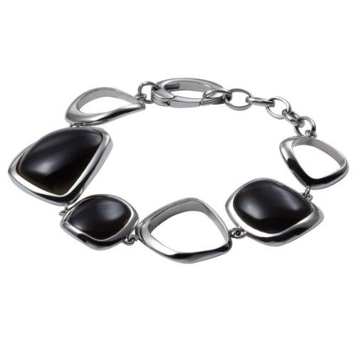 Fossil lederarmband damen schwarz  FOSSIL Damen Armband Edelstahl 18 cm inkl. 4,5 cm Verlängerung ...