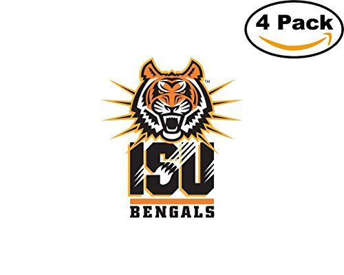 Idaho University (Idaho State Bengals University Vinyl Sticker Decal Logo NCAA 4 Bumper Window Stickers 4X4)