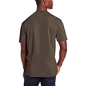 Dickie's Men's Short Sleeve Heavyweight Crew Neck Pocket T-Shirt, Black Olive, X-Large