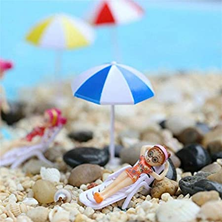 Casa y jardín Decorativos 2 PCS Miniatura Sun Umbrella DIY Home Garden Decoration Cute Umbrella Table Ornament Handicrafts, Tamaño: M (Azul) (Color : Blue): Amazon.es: Hogar