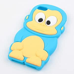 BestDealUSA Blue King Monkey Soft Silicone Back Cover Case For iPhone 5 5G