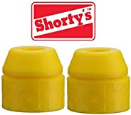 Shorty's Yellow Doh-Doh Bushings 92a Medium Soft (2 sets) For Skateboards & Lo
