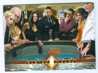 Robert Downey Jr and Terrence Howard trading card 2008 Rittenhouse Iron Man #05 Casino Craps from Autograph Warehouse