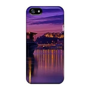 New Tpu Hard Case Premium Iphone 5/5s Skin Case Cover(beautiful Castle Above City Riverside)