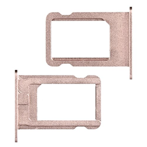 BisLinks Rose Gold Sim Metal Card Tray Holder Replacement Repair Part for iPhone SE (Iphone 5s Gold Sim Slot)