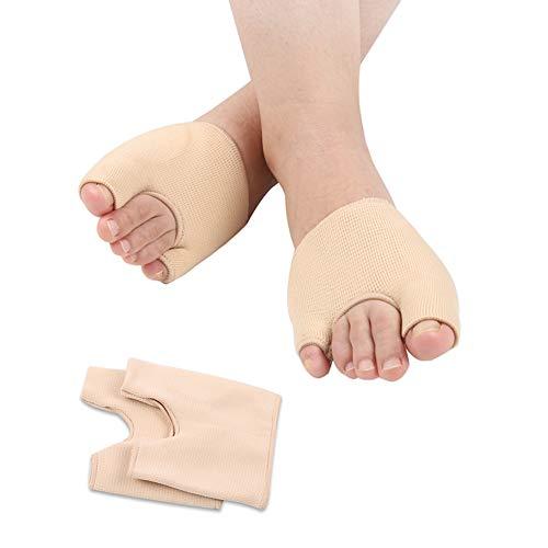 Waxden Gel Nylon Bunion Corrector & Bunion Relief Protector Sleeves Kit, Toe Separator, Hallux Valgues, Hammer Toe, Gel Nylon Bunion Pads Cushion Bunion Protector for Men & Women (1 Pair) (Large)