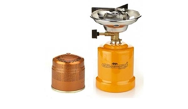 Eurocamping - Hornillo de gas de encendido manual (con 1 cartucho de gas de regalo)