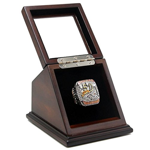 DEN 2015 BRONCOS RING WITH DISPLAY CASE - SIZE 11