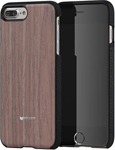 Mozo 7PLBWBT Coque pour iPhone 7 Plus/6 Plus/6S Plus Motif Bois Noyer Noir