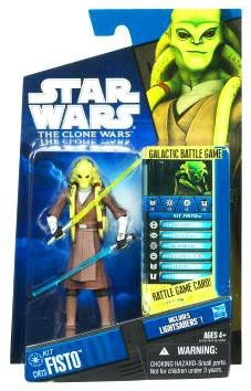 Star Wars 2010 Clone Wars Animated Action Figure CW No. 23 Kit Fisto - Star Wars Clone Wars Kit Fisto