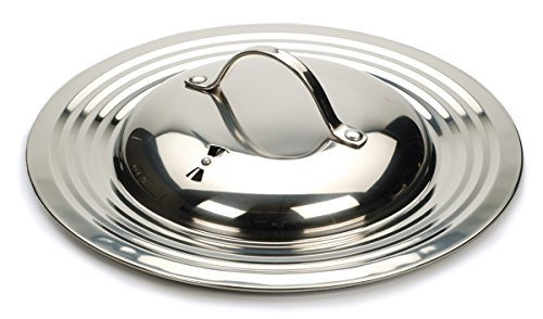 RSVP Endurance Stainless Steel Universal Lid with Adjustable Steam (Fry Pan Cover)