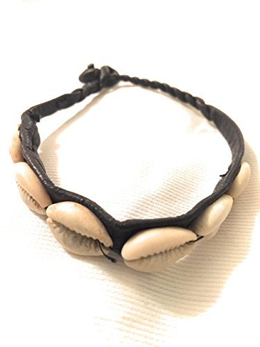 Traditional West African Design Cowry Shell Leather Bracelet by Doorstoafrica by Doors To Africa