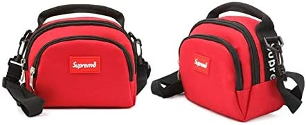 Supreme Casual Pointing Daily Mini Cross Bag for Men 20s # Red