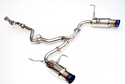 (Invidia (HS11STIGTT) N1 Twin Outlet Single Layer Cat-Back Exhaust System with Titanium Tip for Subaru WRX STI 4-Door)