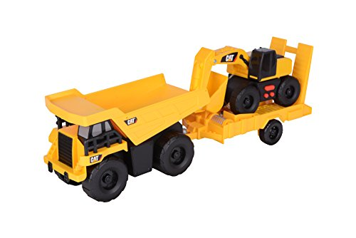 Toy State Light and Sound CAT Truck N' Trailer Dump Pulling Excavator Vehicle