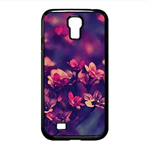 Purple Wildflowers Watercolor style Cover Samsung Galaxy S4 I9500 Case (Flowers Watercolor style Cover Samsung Galaxy S4 I9500 Case)