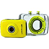 Emerson EVC355YL HD Sports Action Video Camera Kit With Waterproof Case