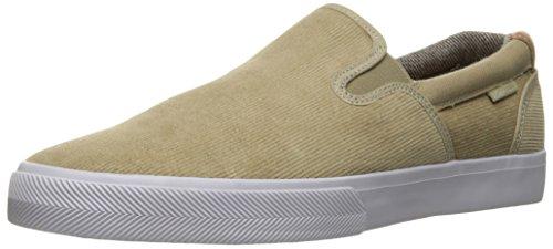 C1RCA Herren Corpus Slip-On leichte Einlegesohle Skate-Schuh Sand / Weiß / Gummi