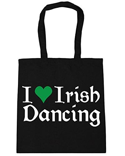 Irish 10 litres Tote Gym Beach Shopping 42cm I Dancing Black Bag Love HippoWarehouse x38cm 7Fxq1EwP1