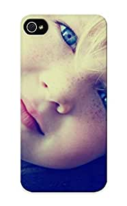 Ideal Gift - Tpu Shockproof/dirt-proof Blue Blue Eyes Monochrome Faces Children Cover Case For Iphone(5/5s) With Design