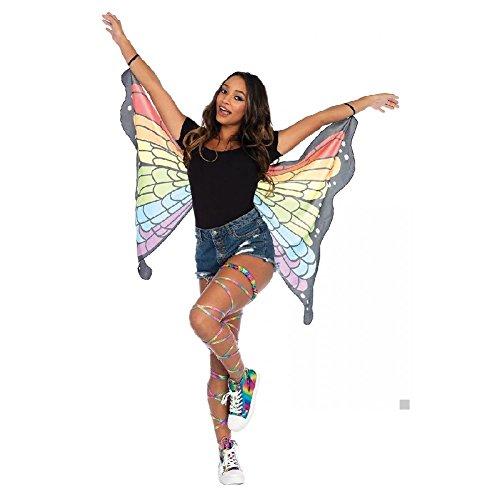 Tween Butterfly Costumes (Butterfly Wings Costume Adult Women Teen Tween Girls Halloween Fancy Dress)