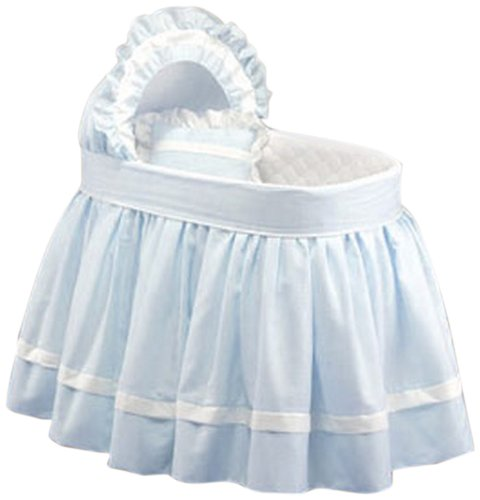 Baby Doll Bedding  Darling Pique Bassinet Bedding, Blue