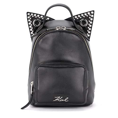 Mini Karl Backpack Leather Black Ears Women's Rocky Lagerfeld Cat Black Lagerfeld With Karl 8qXraUq