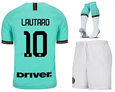 LISIMKEM Lautaro Martínez #10 2019-2020 Inter Milan Kids/Youths Away Soccer Jersey/Short/Socks Green