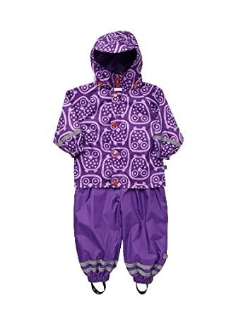 686f96060 Ej Sikke Lej Baby Girls Waterproof Jacket - Purple - 18-24 months ...