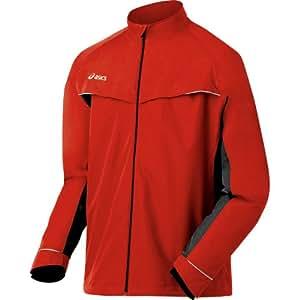 ASICS Men's Team Storm Shelter Jacket, Red/Black, X-Small