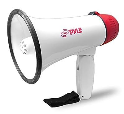 Pyle Home PMP37LED 30 Watt LED Megaphone with Siren, White, Medium