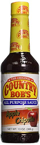 Country Bob's Apple Chipotle All Purpose Steak Sauce, 13 Ounce Bottle