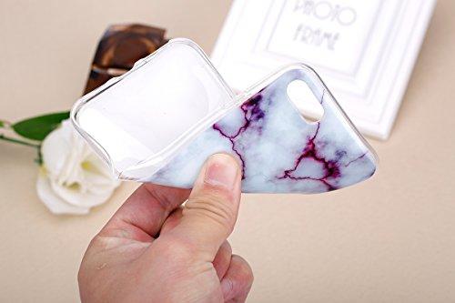 Funda para iPhone 7, Ukayfe Suave Carcasa Caso Parachoques Diseño pintado Patrón para iPhone 7,Funda Case Lujo Premium Bling Caja PC Dura Ultra Fina Cubierta Matt Glitter Protectora Caja Shiny Back Es Púrpura roca