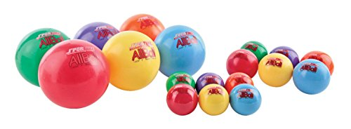 Price comparison product image Sportime Multi-Purpose Inflatable All-Balls,  4 Inches,  Set of 6