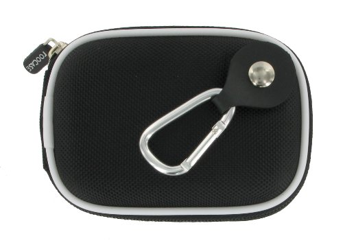 rooCASE Nylon Hard Shell (Black) Carrying Case with Memory Foam for Kodak EasyShare C195 Digital Camera