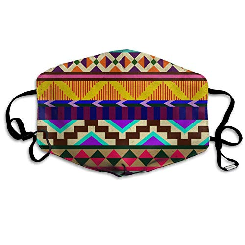 AAA.Yongfugui Street Style Aztec Patterns,Face,Mouth Cover Winter Healthy Warm,for,Unisex Halloween Dustproof Washable Safety Mask Reusable Mouth Mask Unisex for Men Women Polyester -