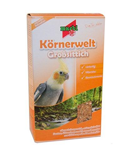 Mucki Körnerwelt Großsittichfutter, 2er Pack (2 x 1.5 kg)