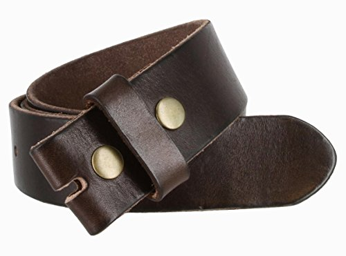 [BS-40 Vintage Full Grain Leather Belt Strap 1 1/2