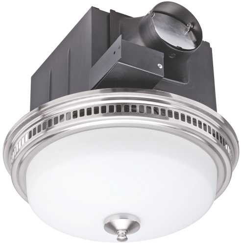 Lighted Bathroom Fan (Monument GIDDS-299651 Exhaust And Ventilation Fan With Light, 110Cfm)