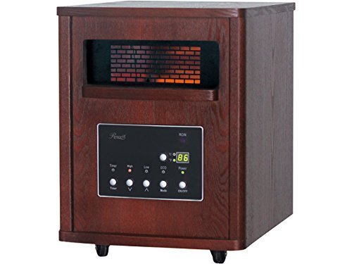 Rosewill RHWH-14001 1500 Watt Cherry Wooden Cabinet Finish Room Space Heater with 6 Infrared Heating Element Tubes - ETL Certified by Rosewill Infrared Heaters Rosewill