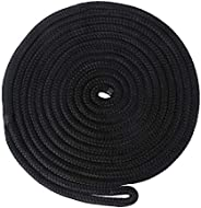 Double Braided Nylon Dock Line/Moorings Rope with Spliced Soft Eye,Ultra Strong and Soft Boat Accessories Mari