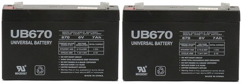 6 volt 7.0 Ah Rechargeable Battery - 2 Pack by Universal Power Group