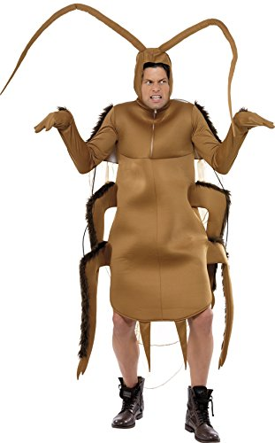 Smiffy's Men's Cockroach Costume, Bodysuit with Sleeves, Funny Side, Serious Fun, One Size, (Cockroach Costume)