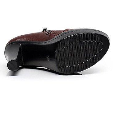 Printemps LvYuan Marron formelles ggx Chaussures Femme Noir formelles Chaussures plus Gros à Chaussures brown Talon 12 Automne Talons amp; cm Similicuir qPq8XrZw