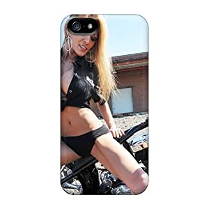 Iphone 5/5s Hard Back With Bumper Silicone Gel Tpu Case Cover Motorcycle