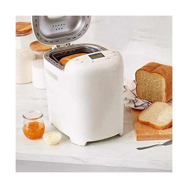 Amazon Basics - Macchina per il pane, 15 modalità, 700-900 g, 550W 5