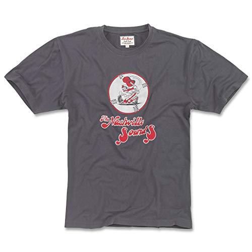 Red Jacket Men's Brass Tacks 2 Nashville Sounds Short Sleeve Navy T Shirt, Medium